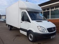 USED 2013 13 MERCEDES-BENZ SPRINTER 313 CDI LWB LUTON WITH TAILIFT, 130 BHP [EURO 5], FULL SERVICE HISTORY, 1 COMPANY OWNER