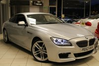 USED 2013 62 BMW 6 SERIES 3.0 640D M SPORT 2d AUTO 309 BHP BMW SERVICE HISTORY + HEATED LEATHER SEATS + PRO SAT NAV + SOFT CLOSE DOORS + M AERODYNAMIC PACK + BLUETOOTH + 19 INCH ALLOYS
