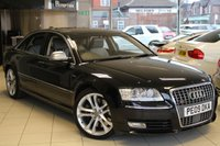 USED 2009 09 AUDI S8 5.2 FSI QUATTRO V10 4d AUTO 450 BHP HEATED FULL LEATHER SEATS + FULL SERVICE HISTORY + 0% FINANCE AVAILABLE T&C'S APPLY + SAT NAV + MOBILE PREPARATION + REVERSE CAMERA + 20 INCH ALLOYS