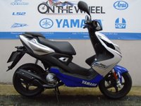 USED 2016 66 YAMAHA AEROX  R 50cc RACE BLUE , PRE-REGISTERED