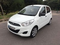 USED 2012 12 HYUNDAI I10 1.2 CLASSIC 5d 85 BHP ONE OWNER 5 DOOR ECONOMICAL TO RUN CAR WITH FSH IN WHITE