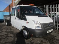 2013 FORD TRANSIT 350 Double Cab Steel Tipper 100PS *ONLY 27000 MILES* £11995.00