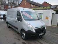 2013 VAUXHALL MOVANO 2.3 F3500 L2H2 CDTI LONG WHEEL BASE  METALLIC SILVER  EX LEASE FULL SERVICE HISTORY SPARE KEY  SOLD WITH WARRANTY   £7500.00