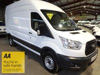 USED 2014 14 FORD TRANSIT 2.2 350 H/R P/V LWB HI ROOF NEW SHAPE-ONE OWNER-SERVICE HISTORY '' YOU'RE IN SAFE HANDS  ''  WITH THE AA DEALER PROMISE