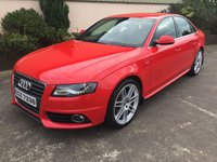 2010 AUDI A4 2.0 TDI S LINE SPECIAL EDITION 141 BHP £10750.00