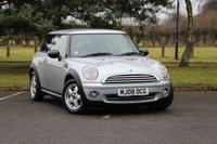 2008 MINI HATCH ONE 1.4 ONE 3d 94 BHP £4980.00