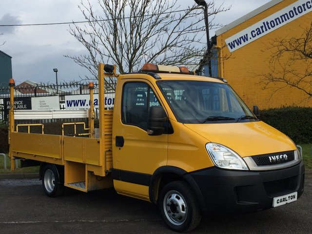 2011 61 IVECO-FORD DAILY 2.3 35C13 Dropside+Tail Lift Alloy Body Traffic Management Free UK Delivery