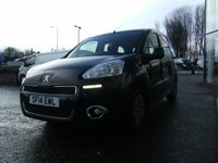 USED 2014 14 PEUGEOT PARTNER 1.6 HDI TEPEE S 5d 92 BHP FREE 6 MONTHS RAC WARRANTY AND FREE 12 MONTHS RAC BREAKDOWN COVER