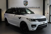 USED 2016 16 LAND ROVER RANGE ROVER SPORT 3.0 SDV6 AUTOBIOGRAPHY DYNAMIC 5DR AUTO 306 BHP + FULL CREAM/BLACK LEATHER INTERIOR + 1 OWNER FROM NEW + PANORAMIC ROOF + SATELLITE NAVIGATION + BLUETOOTH + STEALTH PACK + PRIVACY GLASS + CRUISE CONTROL + HEATED FRONT/REAR SEATS + VIRTUAL COCKPIT + MERIDIAN SPEAKER SYSTEM + REVERSE CAMERA + PARKING SENSORS + 22 INCH ALLOY WHEELS +