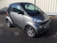 USED 2010 10 SMART FORTWO 1.0 PETROL AUTOMATIC MHD URBANSTYLE LTD EDITION STUNNING MATT GREY PAINT! RAC WARRANTY, PART EXCHANGE WELCOME