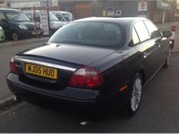 USED 2005 05 JAGUAR S-TYPE 2.7 V6 SPORT 4d AUTO 206 BHP Black S Type, black leather, diesel, automatic, superb.