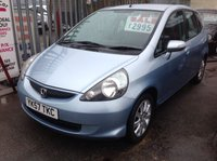 USED 2007 57 HONDA JAZZ 1.3 DSI SE 5d 82 BHP 54000 miles, air/con, alloys, superb, Was £3495 save £500 now £2995,