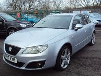 USED 2010 10 SEAT EXEO 2.0 SE LUX CR TDI 4d 141BHP LEATHER+PRIVACY+18 ALLOYS+CDC+