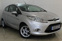 USED 2012 12 FORD FIESTA 1.2 ZETEC 3DR 81 BHP FULL FORD SERVICE HISTORY + AIR CONDITIONING + BLUETOOTH + MULTI FUNCTION WHEEL + ALLOY WHEELS