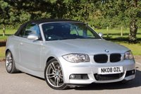 USED 2008 08 BMW 1 SERIES 2.0 120D M SPORT 2d 175 BHP CONVERTIBLE