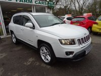 USED 2014 14 JEEP COMPASS 2.4 LIMITED 5d AUTOMATIC FOUR WHEEL DRIVE 168 BHP Low Mileage, Full Service History + Just Serviced by ourselves, MOT until January 2019 (no advisories), Automatic, Four Wheel Drive