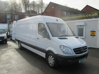 2013 MERCEDES-BENZ SPRINTER 2.1 313 CDI LONG WHEEL BASE, ELECTRIC WINDOWS, 130 BHP, 6 SPEED, EXCELLENT CONDITION,FULL SERVICE HISTORY, LARGE VOLUME VAN, WARRANTY GIVEN ** NO VAT TO PAY ** £9500.00