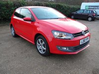 USED 2010 10 VOLKSWAGEN POLO 1.2 MODA A/C 3d 70 BHP Low Miles, Alloy Wheels