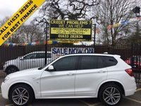USED 2015 64 BMW X3 2.0 XDRIVE20D M SPORT 5d AUTO 188 BHP CHEAPEST WHITE MSPORT ON AUTOTRADER. FULL BLACK LEATHER UPHOLSTERY. HIGH SPECIFICATION