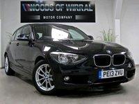 2013 BMW 1 SERIES 1.6 116D EFFICIENTDYNAMICS 5d 114 BHP £9380.00