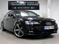 2012 AUDI A4 2.0 TDI S LINE BLACK EDITION 4d 141 BHP £11680.00