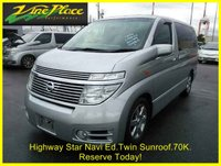 2004 NISSAN ELGRAND Highway Star 3.5 Automatic 8 Seats 4 Wheel Drive Navi Edition £8500.00