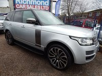 "USED 2013 63 LAND ROVER RANGE ROVER 3.0 TDV6 VOGUE 5d AUTO 258 BHP 22"" ALLOYS, MERIDIAN SOUND, STUNNING EXAMPLE, F.S.H"