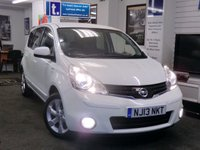 2013 NISSAN NOTE 1.4 N-TEC PLUS 5d 88 BHP £5999.00