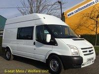 2013 FORD TRANSIT 125 T350L High Roof [ Mess Welfare Unit ] Window van, Ex Lease  £9950.00