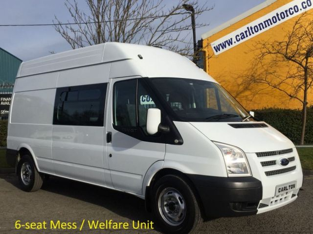 2013 13 FORD TRANSIT 125 T350 LWB High Roof [ Mess / Welfare Unit ] Window van, Delivery TBA