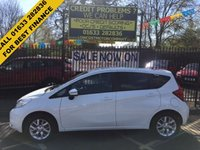 USED 2015 65 NISSAN NOTE 1.2 ACENTA PREMIUM 5d 80 BHP ONE OWNER. IN THE BEST COLOUR. LOW MILEAGE. FULL NISSAN HISTORY.