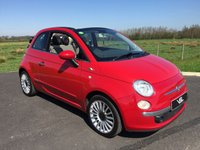 2010 FIAT 500C 1.2 C LOUNGE 2DR 3 Position Convertible