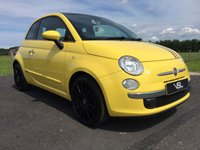 USED 2009 59 FIAT 500 1.2 LOUNGE 3DR Tropicallia Special Yellow Paint