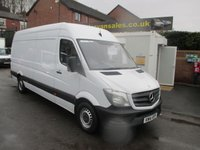 2014 MERCEDES-BENZ SPRINTER 313 CDI  130 BHP  NEW SHAPE MODEL LONG WHEEL BASE VAN  ONE LEASE COMPANY OWNER  FULL SERVICE HISTORY, BLUETOOTH, CRUISE CONTROL £10995.00