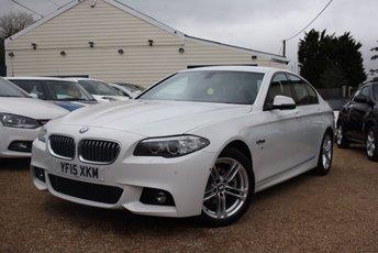 2015 BMW 5 SERIES 2.0 520D M SPORT 4d AUTO 188 BHP £22500.00