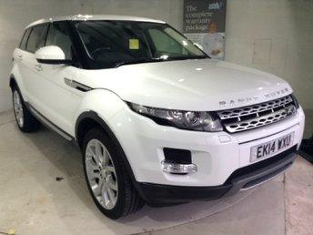 2014 LAND ROVER RANGE ROVER EVOQUE 2.2 SD4 PRESTIGE 5d AUTO High Spec in White £26101.00