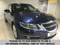 USED 2011 11 SAAB 9-5 2.0 VECTOR SE TID 4d AUTO 160 BHP Part leather upholstery, Heated front seats, Bluetooth, Front and rear parking sensors, Paddleshift controls,