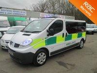 USED 2010 10 RENAULT TRAFIC AMBULANCE 6 Seat Crew Cab 2.0 CDTi 115 BHP 6 Speed