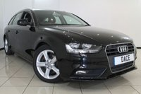 USED 2013 62 AUDI A4 2.0 AVANT TDIE SE 5DR 163 BHP FULL AUDI SERVICE HISTORY + 0% FINANCE AVAILABLE T&C'S APPLY + AIR CONDITIONING + PARKING SENSOR + CRUISE CONTROL + BLUETOOTH + ALLOY WHEELS