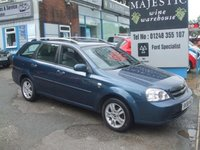 USED 2008 58 CHEVROLET LACETTI 1.6 SX ESTATE, only 57000 miles Low Mileage