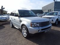 USED 2008 08 LAND ROVER RANGE ROVER SPORT 2.7 TDV6 SPORT HSE 5d AUTO 188 BHP 4 SERVICE STAMPS, SAT NAV, HSE, SILVER, CONTRASTING MAGNOLIA LEATHER, ELECTRIC MEMORY SEATS MIRRORS AND STEERING WHEEL, FOLDING DOOR MIRRORS, CRUISE CONTROL, HARMON/KARDON SOUND, AUTO TIPTRONIC GEARBOX, FRIDGE, RADIO STEREO CD, TOUCH SCREEN SAT NAV, VOICE SETTINGS, HEATED FRONT SEATS, AUTO DIMMING MIRROR, ISOFIX, REAR FOLDING REAR SEATS, ARM RESTS, WOOD CAPPINGS TO DOOR INSERTS WITH LAND ROVER EMBELAMS, TELEPHONE PREP, HEATED FRONT AND REAR SCREEN, AUTO XENON LIGHTS, FRONT AND REAR FOGS, SPLIT R