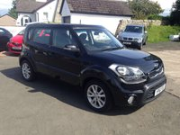 USED 2011 61 KIA SOUL 1.6 2 CRDI 5d AUTO 126 BHP PRICE INCLUDES A 6 MONTH RAC WARRANTY, 1 YEARS MOT AND A OIL & FILTERS SERVICE AND 12 MONTHS FREE BREAKDOWN COVER.