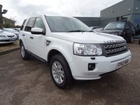 USED 2010 60 LAND ROVER FREELANDER 2.2 TD4 XS 5d AUTO 150 BHP 1 PREV OWNER, SERVICE HISTORY, SAT NAV DISC, SPARE KEY, BRILLIANT WHITE, HALF LEATHER AND ALCANTARA TRIM, ELECTRIC SEATS, ELECTRIC HEATED FOLDING DOOR MIRRORS, ALPINE SOUND, AUTO TIPTRONIC GEARBOX, HILL DESCENT, HEATED SEATS, TOUCH SCREEN SAT NAV, PDC, TRACTION CONTROL, 4WD OPTIONS, RADIO STEREO CD PLAYER, DUAL ZONE CLIMATE, CENTRE ARM REST WITH STORAGE, CUP HOLDERS, ALUMINIUM PACK, AUTO DIMMING MIRRORS, ISOFIX, AUTO LIGHTS, SPORTS ALLOYS, HEADLAMP WASH, FRONT AND REAR FOGS, SUN PRO GLASS, REAR