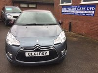 USED 2012 61 CITROEN DS3 1.6 DSTYLE 3d 120 BHP GREY WITH PURPLE ROOF AND MIRROR COVERS