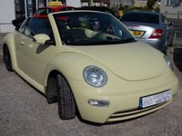 USED 2005 VOLKSWAGEN BEETLE 1.4 16V 2d 74 BHP SUMMER BEAUTY - VW Beetle convertible  1.4 petrol - SORT AFTER COLOUR -  Look cool in town or at the beach.