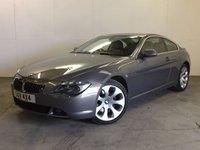 2005 BMW 6 SERIES 4.4 645CI 2d AUTO 329 BHP SAT NAV LEATHER MOT 02/18 FSH £7990.00