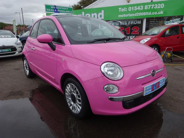USED 2010 10 FIAT 500 1.2 PURO2 3d 69 BHP STUNNING EXAMPLE...£30 A YEAR ROAD TAX....SUNROOF...AIRCON....CALL TODAY ON 01543 877320