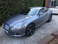 "USED 2012 61 BENTLEY CONTINENTAL 6.0 GT 2d AUTO 567 BHP NEW SHAPE WITH FSH IN GREY WITH CREAM LEATHER A1 CONDITION 21"" MULLINER ALLOYS AVAILABLE AS OPTIONAL EXTRA"