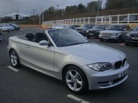 USED 2010 10 BMW 1 SERIES CABRIOLET 2.0 118D SPORT 141 BHP Local car with only 45,000 miles FSH. Black half leather
