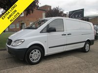 USED 2010 10 MERCEDES-BENZ VITO 2.1 109CDI EXTRA LONG LWB XLWB. AIRCON. ALLOYS. PX CLEAN VAN. WARRANTY. TWIN SIDE DOORS. 1 YEAR MOT. PX